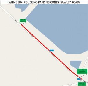 Police No Parking Cones - Sawley Road